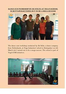 Dance Cum Workshop by De Stilte at Tega's School in Duttapukar