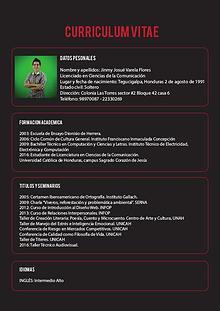 Curriculum Vitae Jinmy Josue Varela Flores