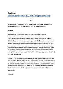 AC 309 Unit 4 Chapter Problems