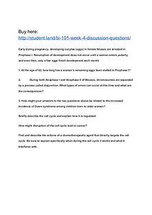 BI 101 Week 4 Discussion Questions