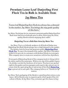 Premium Loose Leaf Darjeeling First Flush Tea