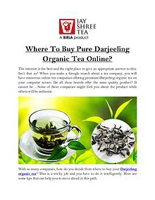 Where To Buy Pure Darjeeling Organic Tea Online?