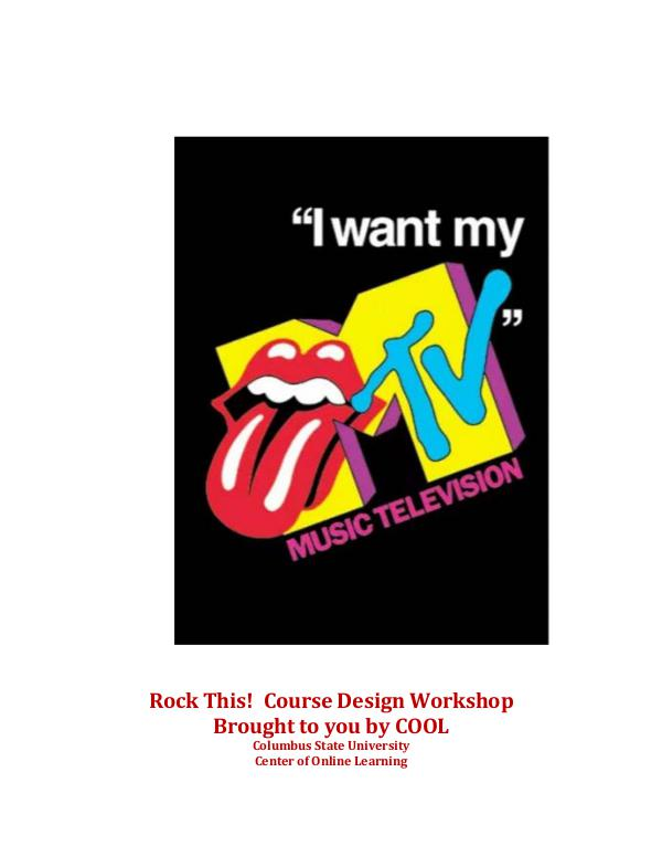 I Want My MTV - 80s Music Background Information I want my MTV for Course Design WorkShop