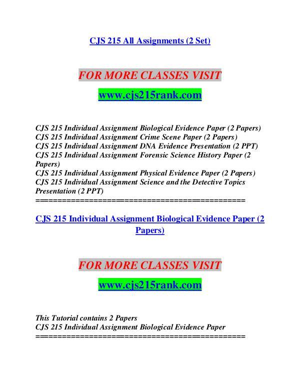 CJS 215 RANK Life of the Mind/cjs215rank.com CJS 215 RANK Life of the Mind/cjs215rank.com