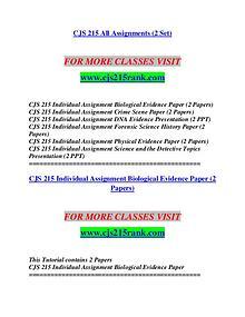 CJS 215 RANK Life of the Mind/cjs215rank.com