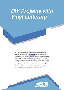 DIY Projects with Vinyl Lettering