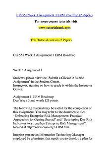 CIS 558 Course Great Wisdom / tutorialrank.com