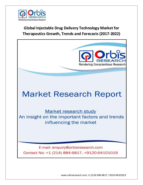 Market Research Report Latest Research: 2017-2022 Injectable Drug Deliver