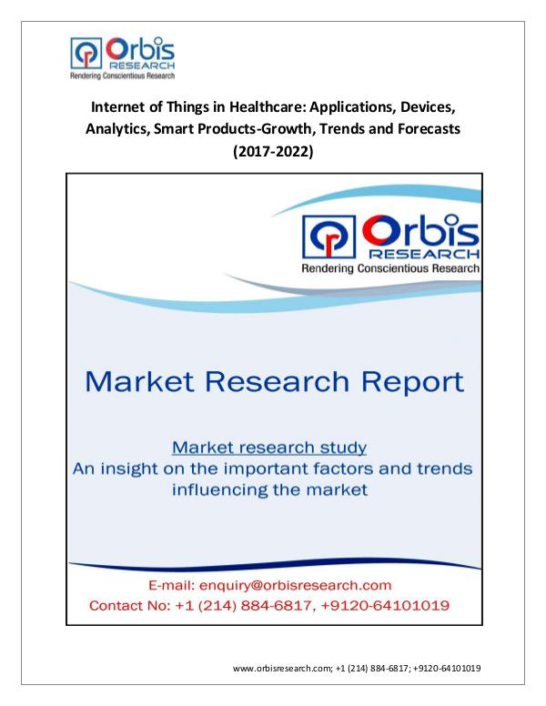 Market Research Report World Internet of Things in Healthcare Market  Tre
