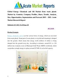 Global energy chemicals and oil market research report