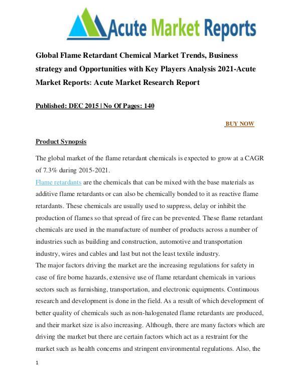 Global Flame Retardant Chemical Market Research Report Global Flame Retardant Chemical Market Research Re