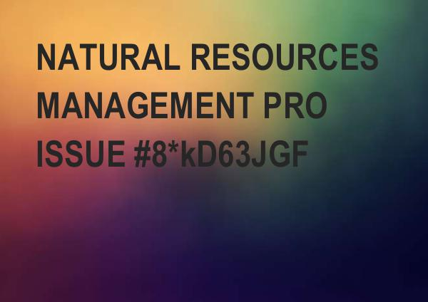 REFUGIUM: Natural resources management Pro _5H0VOLUME_natural_resources_management_pro