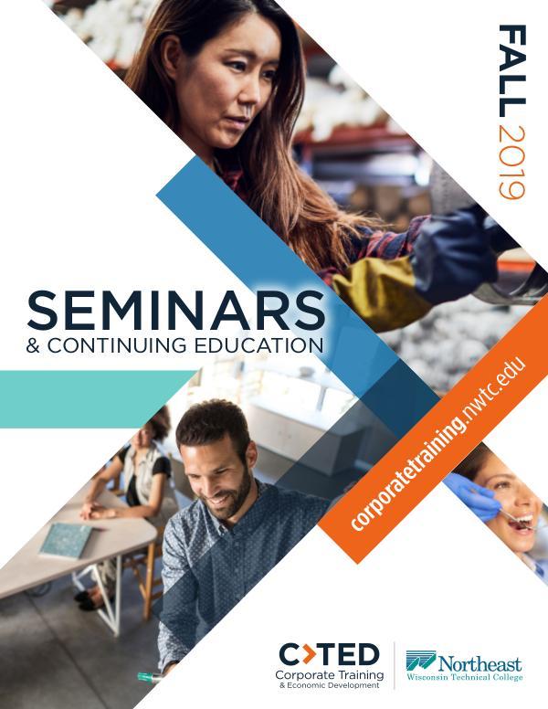 CTED Seminars & Continuing Education Fall 2019