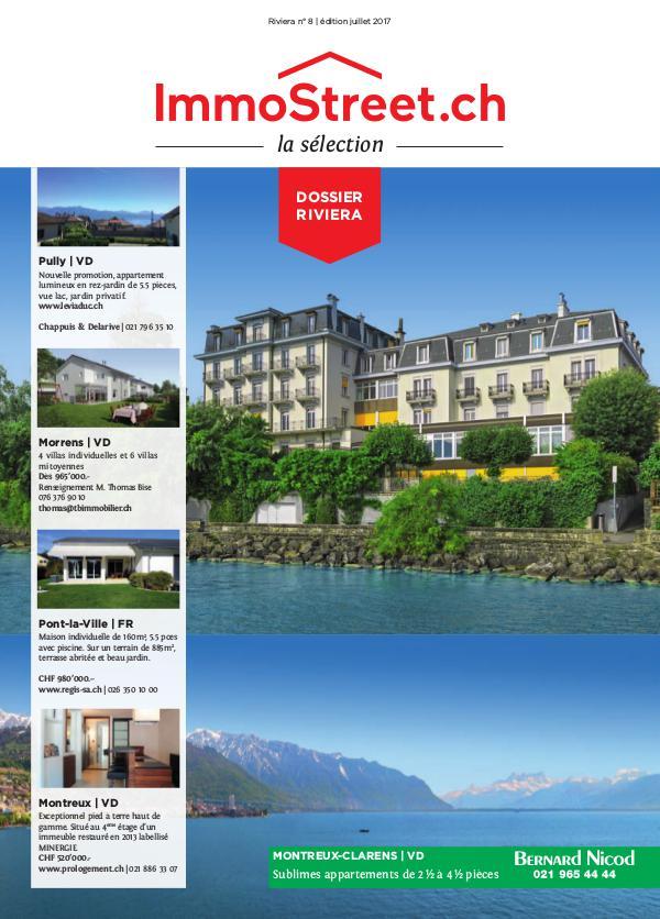 La Sélection ImmoStreet.ch - leader des magazines immobiliers en Suis n°8-édition juillet 2017