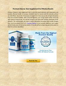 Premium Cleanse is best supplement that is with lab tested elements a