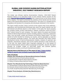 Global Gamma Butyrolactone Industry Forecast Study 2012-2022