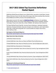 Defibrillator Market Trends and 2022 Forecasts for Manufacturers