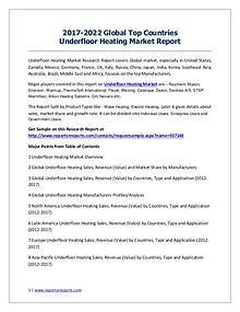 Underfloor Heating Market 2017 Analysis, Trends and Forecasts 2022