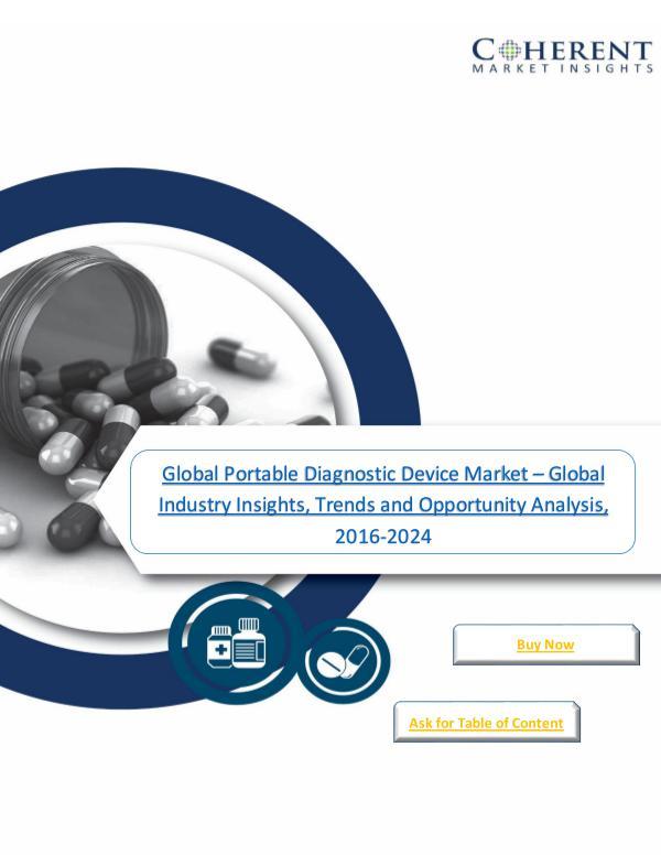 Global Portable Diagnostic Device Market - Global Industry Insights 2 Global Portable Diagnostic Device Market