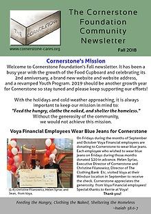 Cornerstone Foundation Digital Community Newsletter