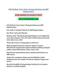 CIS 446 STUDY Extraordinary Life/cis446study.com