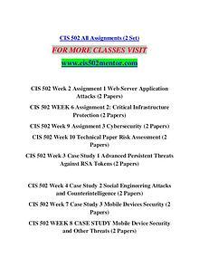 CIS 502 MENTOR Extraordinary Life/cis502mentor.com