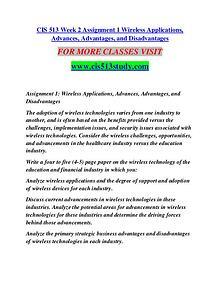 CIS 513 STUDY Extraordinary Life/cis513study.com