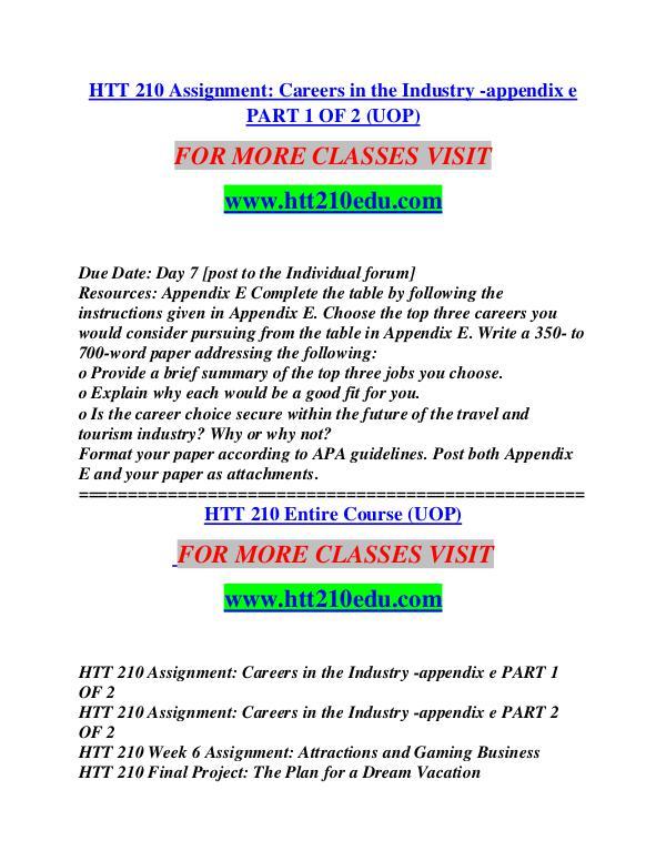 HTT 210 EDU Invent Yourself/htt210edu.com HTT 210 EDU Invent Yourself/htt210edu.com