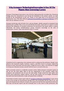 Professions in Aircraft and Aerospace - Enjoyment Is waiting for You