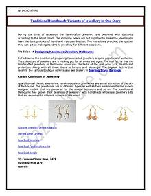 My first MagazineTraditional Handmade Variants of Jewellery in One St