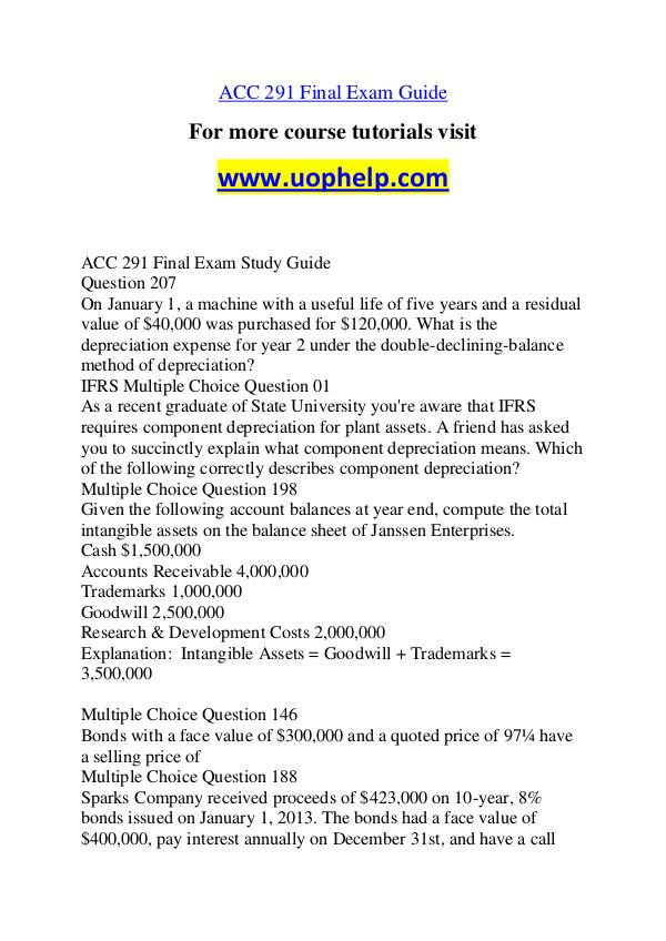 ACC 291 New Seek Your Dream /uophelp.com ACC 291 New Seek Your Dream /uophelp.com