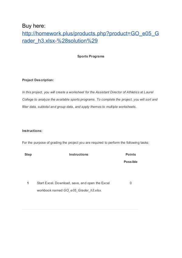 GO_e05_Grader_h3.xlsx (solution) Homework