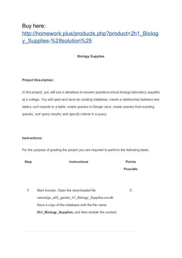 2h1_Biology_Supplies (solution) Homework