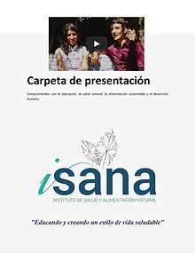 Carpeta de presentación de ISANA