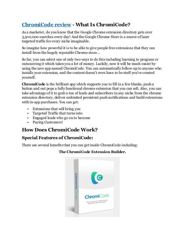 Marketing ChromiCode review and (Free) $21,400 Bonus & Disco
