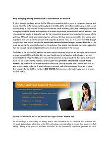 Norton Antivirus Customer support service