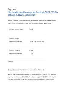 ACCT 505 Final Exam (2017 version)