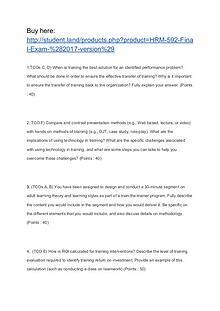 HRM 592 Final Exam (2017 version)