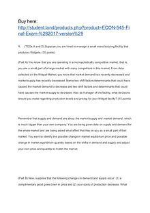 ECON 545 Final Exam (2017 version)
