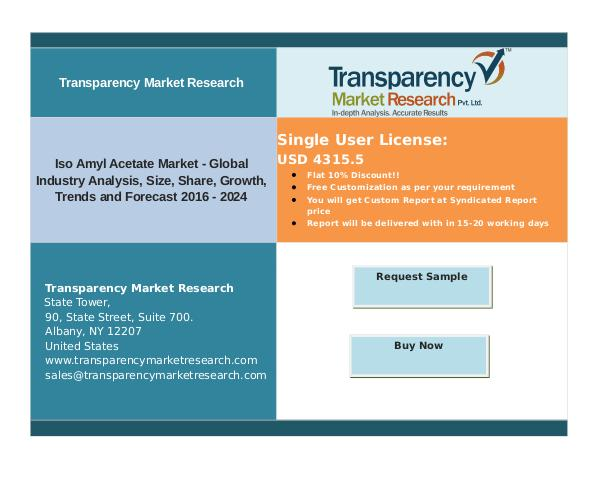 Propylparaben Market Size, Share | Industry Trends Analysis Report, 2 Iso Amyl Acetate Market: Latest Trends,Analysis &