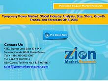 Globle Temporary Power Market,2016–2024
