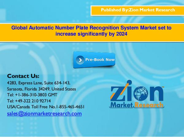 Zion Market Research Global Automatic Number Plate Recognition System M