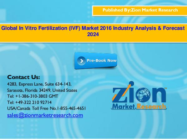 Zion Market Research Global In Vitro Fertilization (IVF) Market, 2016–2