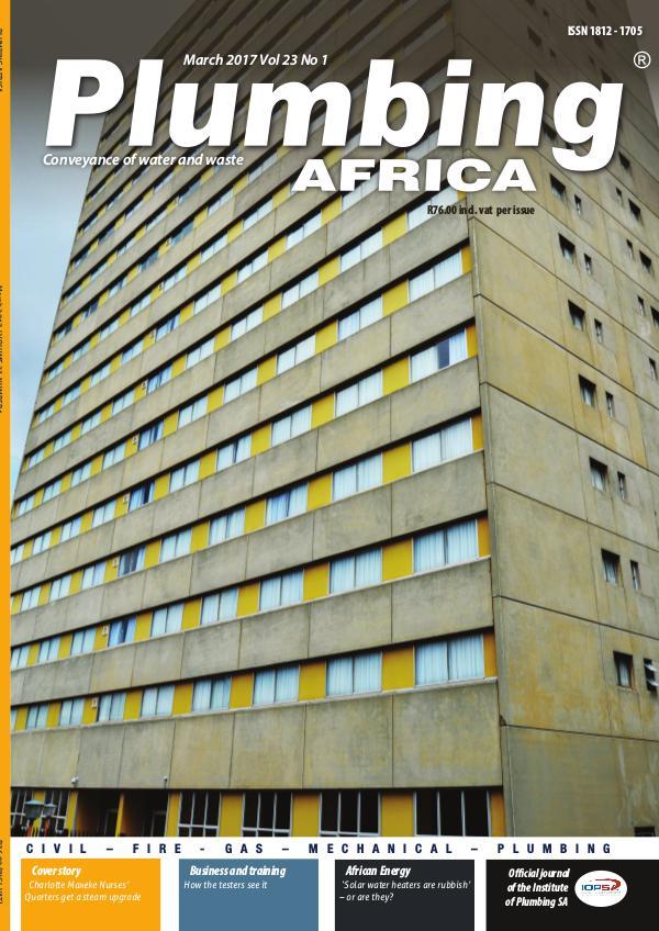 Plumbing Africa March 2017