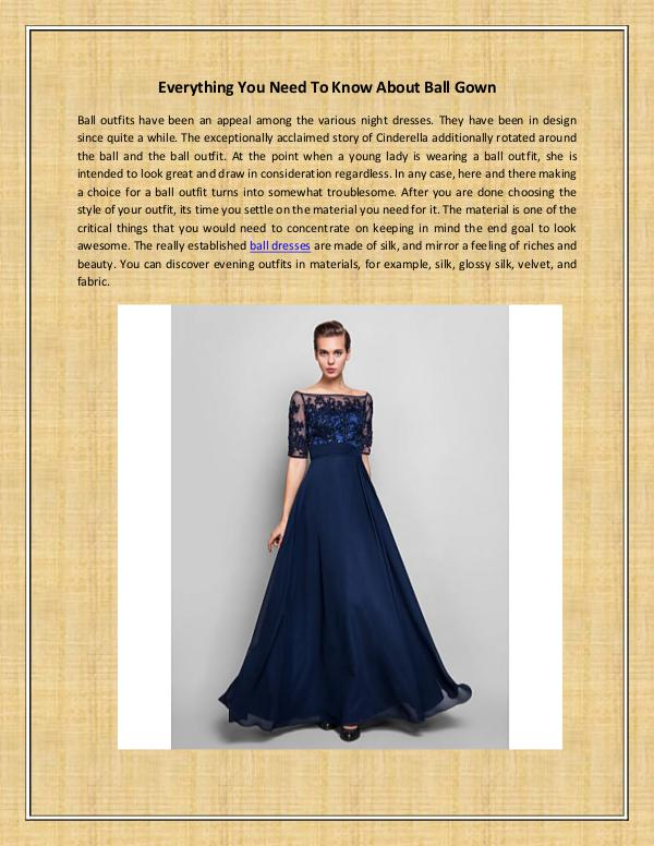 Everything You Need To Know About Ball Gown Everything You Need To Know About Ball Gown
