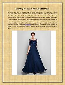 Everything You Need To Know About Ball Gown