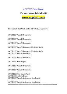 ACCT 553 Dreams Come True /uophelp.com