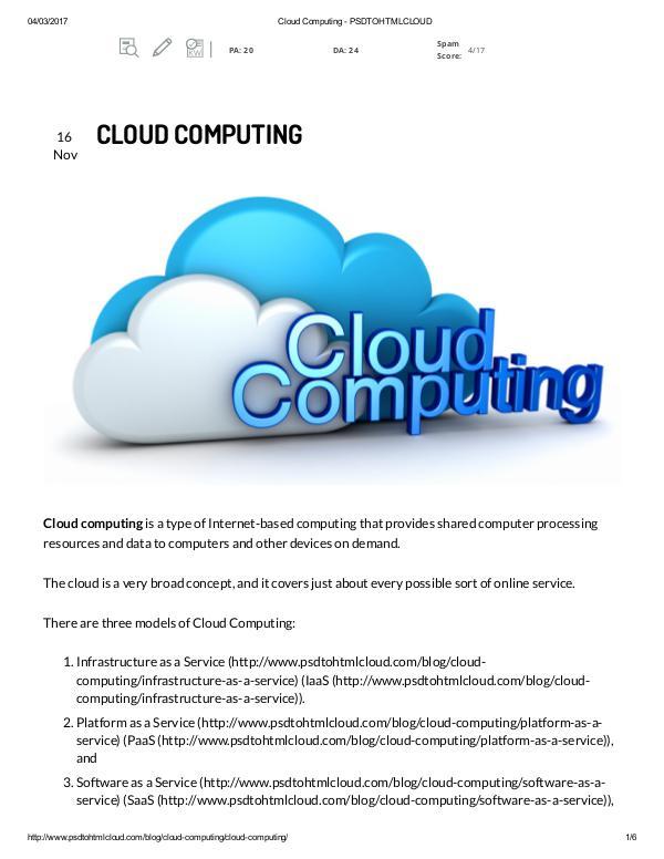 psd to wp conversion cloud computing