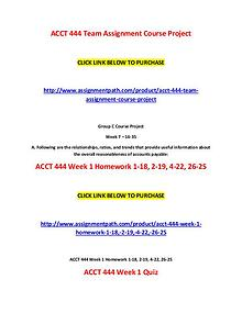 ACCT 444 Assignments