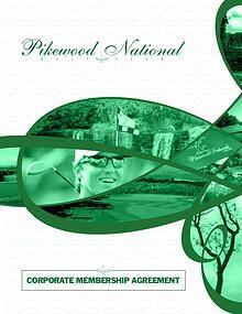 Pikewood National Golf Club's Corporate Membership Agreement